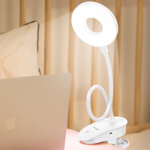 LED Desk Lamp Eye-Caring Table Lamp,3Levels of Brightness, Dimmable Office Lamp with Adapter, Touch Control Sensitive, 360° Flexible