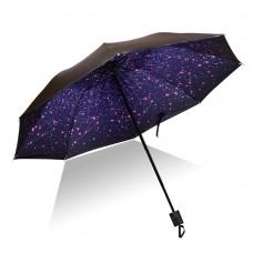 Parasol black plastic rain dual-use anti-UV umbrella female folding umbrella