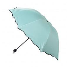 Ruffled water with flowers and umbrellas Black plastic super anti-UV umbrellas and sun umbrellas