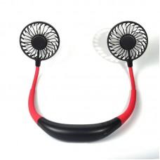 Sports hanging neck fan charging fan portable lazy fan aromatherapy lamp folding desktop small fan