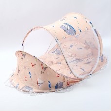 Children's baby folding mosquito net with sleeping pad pillow mosquito net bed three-piece