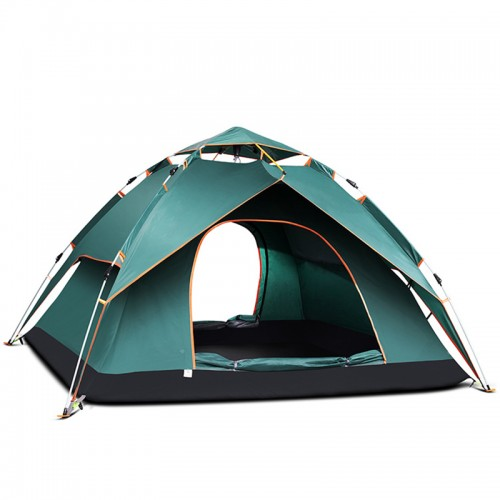 Automatic tent outdoor 3-4 people thick rainproof 2 people single double camping camping tent
