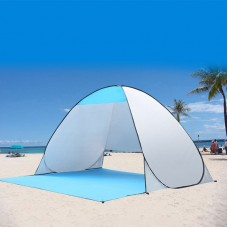 Beach tent outdoor automatic speed open folding double fishing tent