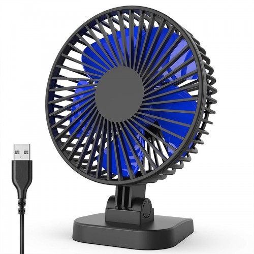 2019 New Mini USB Desk Fan with Updated Strong Airflow, 3 Speeds, Whisper Quiet, 40° Adjustable Tilt Angle for Better Cooling, Perfect Portable Personal Fan for Desktop Office Table