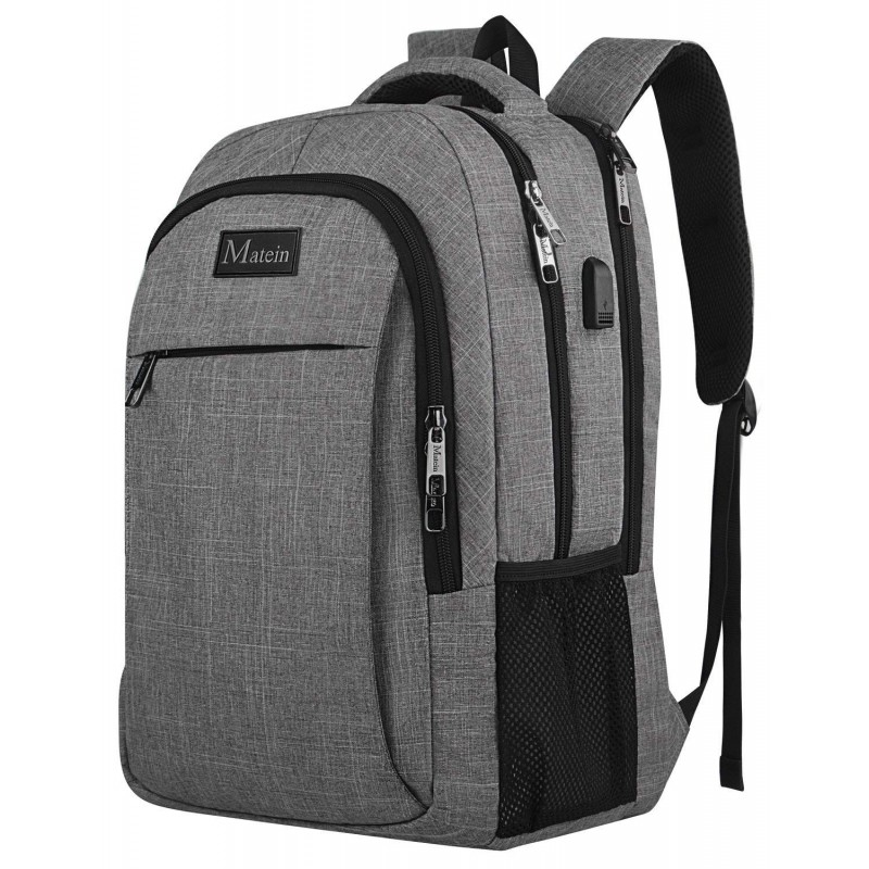 44122797a79f7b Travel laptop backpack, business anti-theft ultra-thin and durable laptop  backpack with USB charging port, waterproof school men and women computer  bag ...