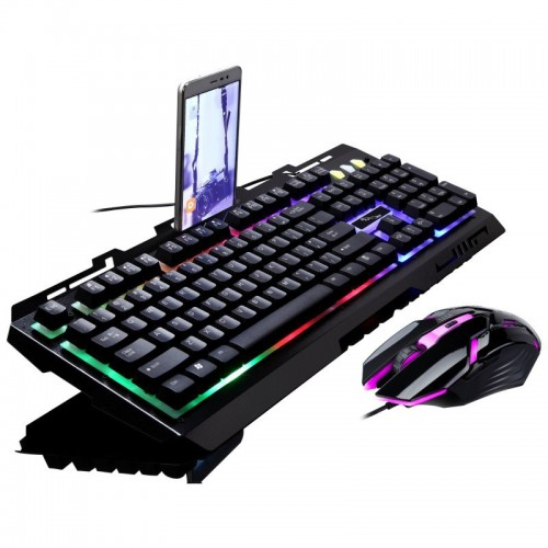 Chasing Leopard G700 Keyboard Mouse Wired USB Set Illumination Suspension Mechanical Handle Game Keyboard Suite