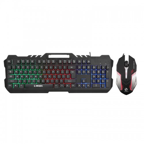 Limei T21 backlit computer mouse and keyboard set wired game keyboard and mouse set mechanical keyboard feel