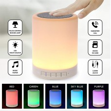 Night Light Bluetooth Speaker, Portable Wireless Bluetooth Speakers, Touch Control, Color LED Speaker, Bedside Table Light, Speakerphone/TF Card/AUX-in Supported