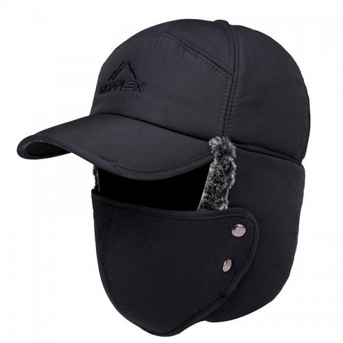 Thick hat,Unisex Winter Ear Flap, Trooper, Trapper, Bomber Hat, Keeping Warm While Skating, Skiing Other Outdoor Activities