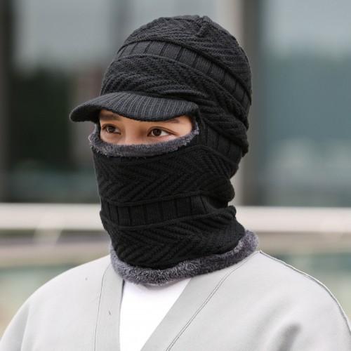 Unisex Mens/Women Winter Warm Hat Knit Outdoors Plush Thickening Knit Cap Ski Hat for Winter