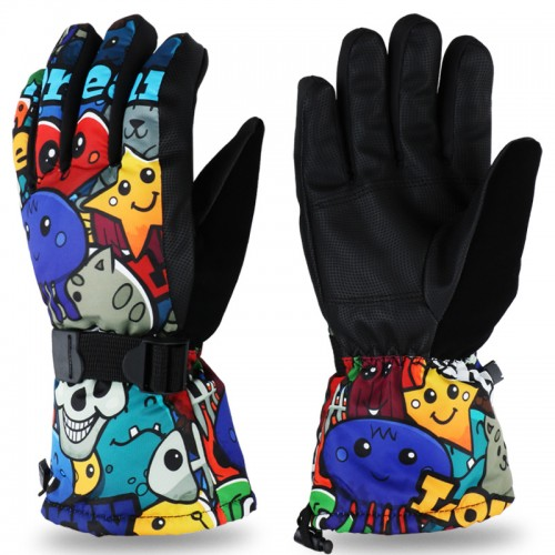 Waterproof Ski Gloves, 3M Thinsulate Thermal Gloves Anti Slip Warm Snow Gloves for Skiing Snowboarding Winter gloves
