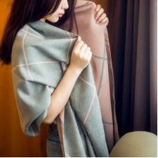 Women Winter Cashmere Scarf Pashmina Shawl Wrap with Tassel Plaid Reversible