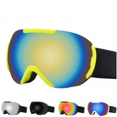 OTG Ski Goggles Set with Detachable Lens, Frameless Interchangeable Magnetic Lens for Skiing Skating Snowmobiles, Anti-Fog and 100% UV Protection Snow Goggles for Men and Wome