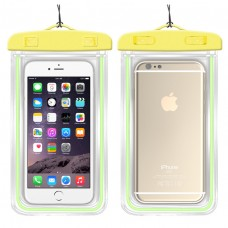 Universal Waterproof Case for Smartphone Device, Luminous fluorescent touch screen intelligent transparent diving swimming tpu mobile phone waterproof bag