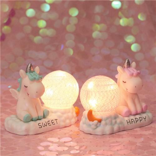 Unicorn Night Light, LED Night Light Cartoon Nursery Lamp for Children Kid Girl Toy Birthday Gift Home Decor (Unicorn - Pink)