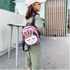 Sequins backpack,Rabbit Animals Kids Book Backpack Girls School Bag