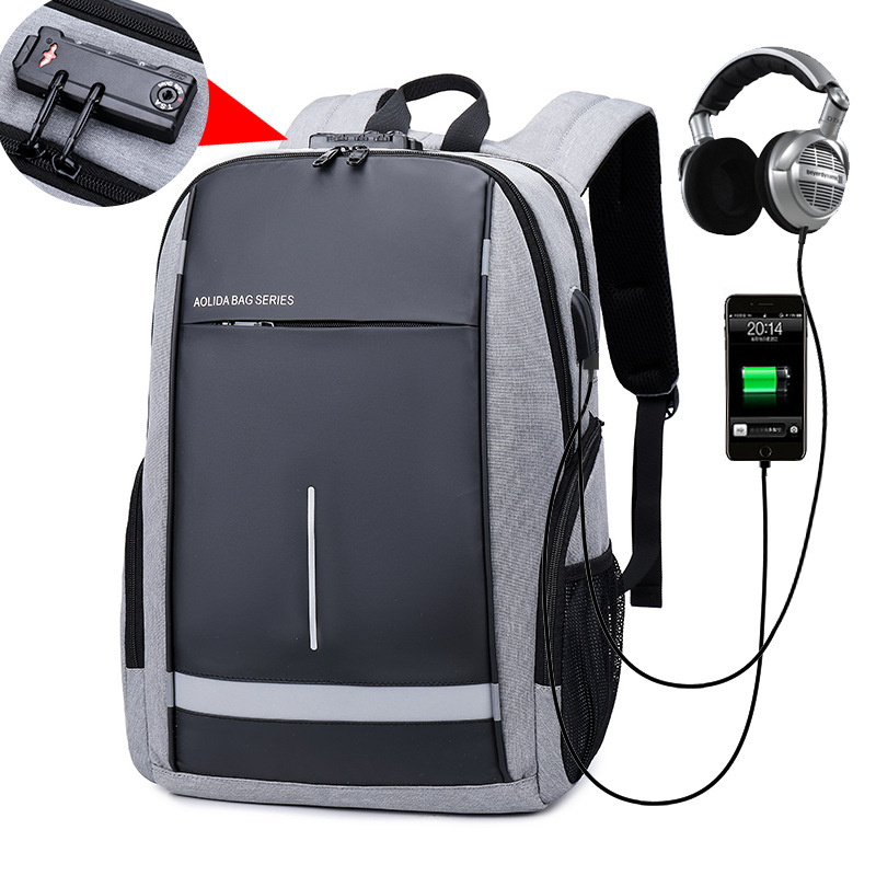Laptop Backpack Night Light Reflective Waterproof And Durable Bag Anti Theft Shoulders Backpacks For 18 Inch In Business School Travel