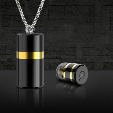 Mini Bluetooth Earphone Bluetooth 4.1 Design Pendant Stereo Sound Canceled Noise Easy Operate a Button Distance 10m Compatible Android iOS
