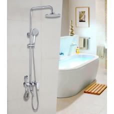 NIO'MENHOME Plumbing hardware multi-function shower set four-speed shower hand shower constant temperature copper set