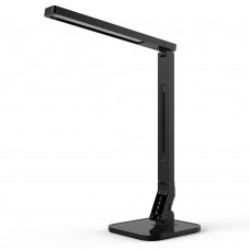 LED Desk Lamp with USB Charging Port, 4 Lighting Modes with 5 Brightness Levels, 1h Timer, Touch Control, Memory Function,14W