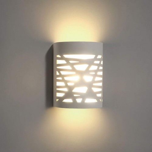 White Wall Sconce, LED Wall Sconce 7W 3000K Warm White Sconce Wall Lighting, LED Wall Sconce with Frosted Cover for Bedroom Hallway Stairway Porch Office Hotel (with 7W G9 LED Bulb)