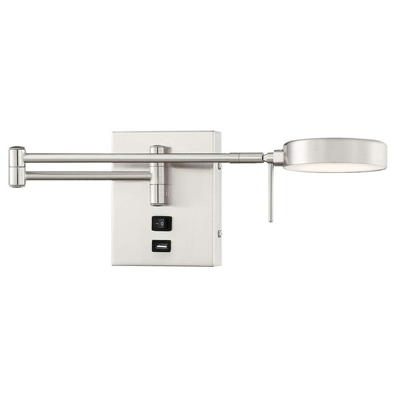Reading Swing Arm Wall Lamp Light, Bedside Reading Wall Lamps