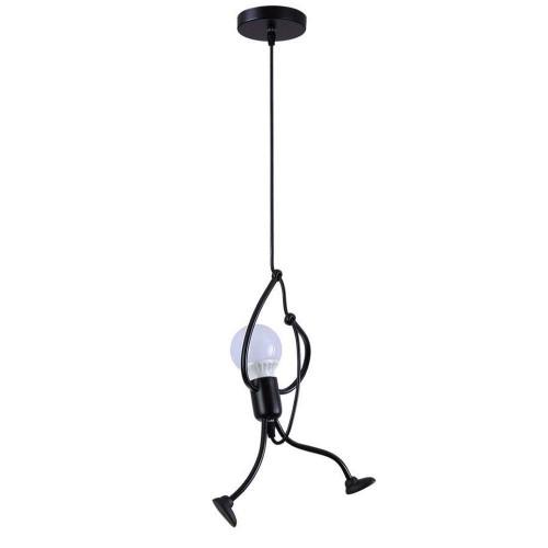Industrial Metal Pendant Light, Creative Cartoon Ceiling Light Fixture, Indoor Hanging Lamp, Modern Minimalist Lamps for Bedrooms Loft Study Restaurant Entryway Foyer, E27, Bulb not Included
