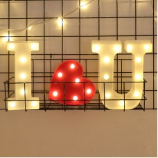 Foaky LED Letter Lights Sign 26 Alphabet Light Up Letters Sign for Night Light Wedding Birthday Party Battery Powered Christmas Lamp Home Bar Decoration