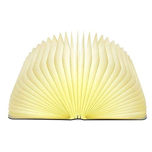 Book Light,Folding Book Lamp, Night Light  USB Rechargable Book Shaped Light ,2 Colors Led Table Lamp for Decor, Magnetic Design, Environmentally Material