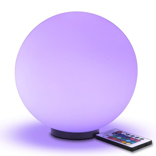 LED Dimmable Lamp - Premium Glass Color Changing Light with Remote Control - 7.9 inch Night Light Lamp, 4 Lighting Modes, Battery Power, or AC Adapter - Perfect for Children and Adults