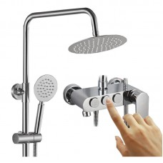 Push Button Type Multifunction Press The Third Speed of Adjustable Shower, top and a Combined Shower