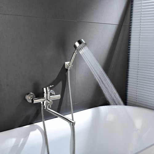Bathtub Tub Extension Faucet Shower Simple Shower Set in-wall Mixing Valve Shower Faucet