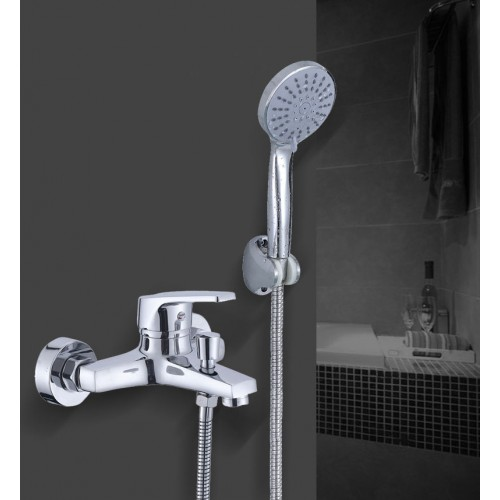 Triple Faucet Bathroom Hot and Cold Mixing Valve Bathroom In-wall Simple Shower Set