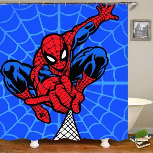 3D Spiderman Bathroom Shower Curtain Cartoon Anime Polyester Fabric Waterproof Shower Curtain