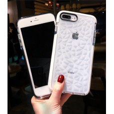 Fashion Diamond Pattern Phone Case Candy Soft Clear Back Cover for Apple iPhoneXS MAX / XR / XS / 6/7 / 8PLUS