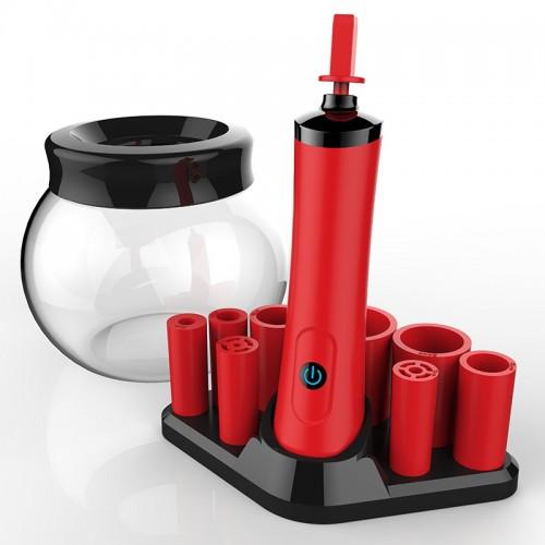 Makeup Brush Cleaner Dryer & Dryer Set,360 Degree Electric Brush Cleaner Machine Automatic Brush Cleaner Spinner Makeup Brush Tools