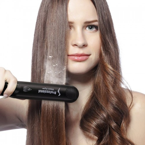 Portable Ceramic Vapor Steam Hair Straightener Fast Heating
