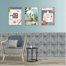 """3D stereo tile sticker, 12""""x12"""" Self Adhesive Wall Tile Peel and Stick Backsplash for Kitchen, Marble Design (6 Pack)"""