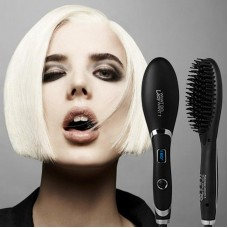 ETERNITY Hair Straightening Brush, Corded Ionic Ceramic Straightener Comb with LED display and MCH Heating Function, Anti Static, Detangling, and Silky Straight