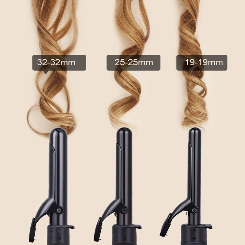 Three In One Curling Iron Ceramics Change Head Hair Curler