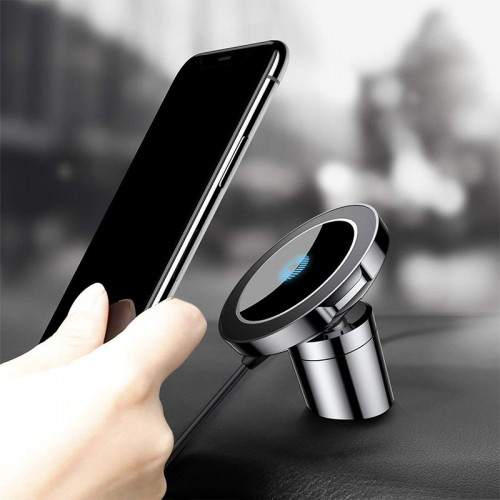 Car Charger Phone Mount, Baseus Universal Air Vent Magnetic Phone Car Mount Holder Car Phone Holder Fast Wireless Chargers QI Wireless Charging Pad Quick charge for iPhone X 8 8 Plus, Galaxy