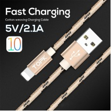 Braided data cable for Apple iphone6S7PLUS nylon aluminum USB charging cable