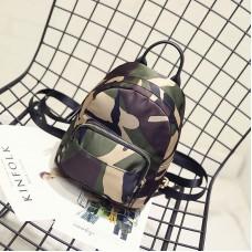 Nylon Zipper Camo Mini  Backpack One Size