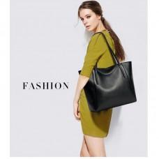 MALLUO Cowhide leather ladies shoulder bag TOTE BAG zipper open bag large capacity soft leather bag