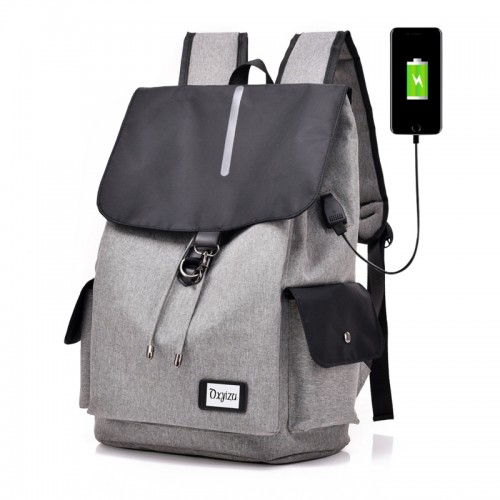 Waterproof Anti-theft USB Charging Port Notebook Backpack With Magnetic Closure