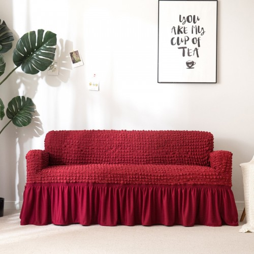 1 multi-functional universal easy-to-install sofa sofa cover elastic high elastic durable furniture sofa cover with skirt