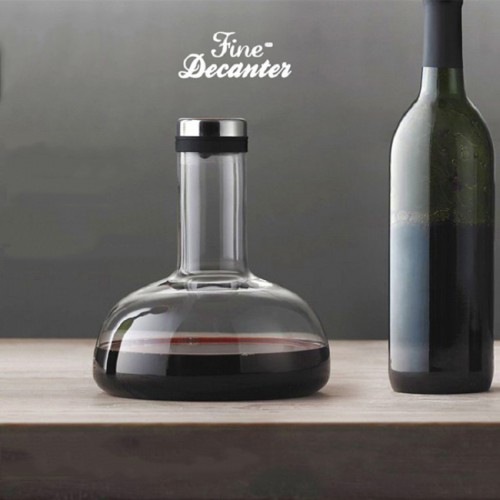 Red  Wine Decanter breather Carafe- 1000 ML(35OZ) - Lead Free -Superior Quality Crystal Hand Made