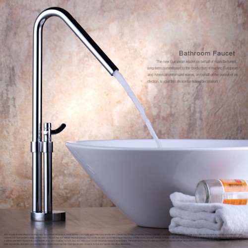 Copper basin hot and cold mixing valve faucet - plating