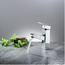 Bathroom Sink Faucets Kitchen Basin Mixer Tap for Hot and Cold Water, Single Handle with Faucet , Flexible Pull Down Sprayer Chrome Plating