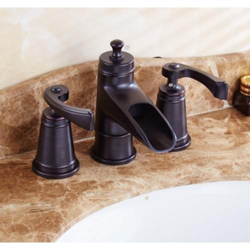 "2-Handle 8"" Widespread Bathroom Faucet in Brushed Nickel, Water-Efficient Model"